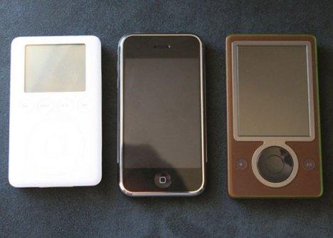 Ipod classic, i-phone, zune